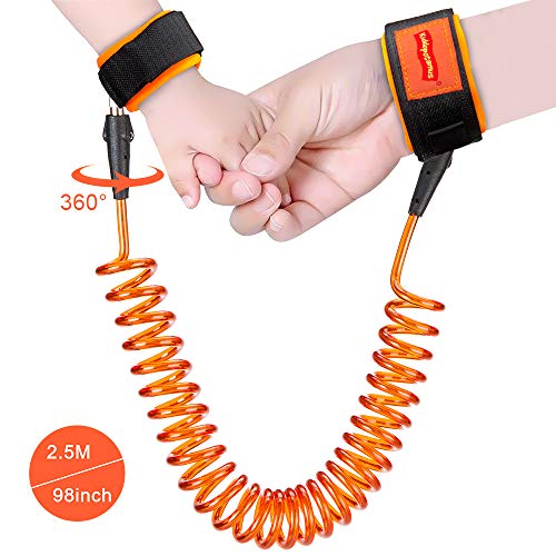 Anti Lost Wrist Link, 360 Degree Rotating Connectors,Outdoor Safety Harness for Children, Kids from Twins' Dad