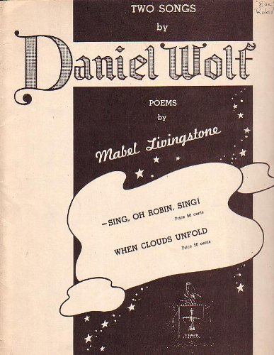 Sheet Music Two Songs & Poems 1938