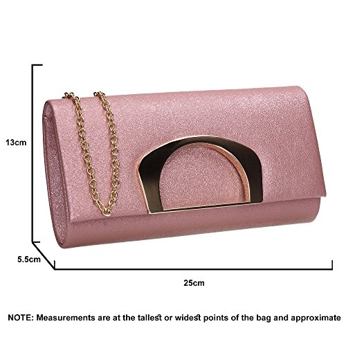 Prom Clutch Ladies Evening Pink Wedding Bag Marcie Purse Out Celebrity Party SWANKYSWANS Night 6wfvnE