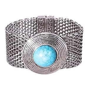 Mela Women Chunky Stone Round Shape Magnetic Bracelet