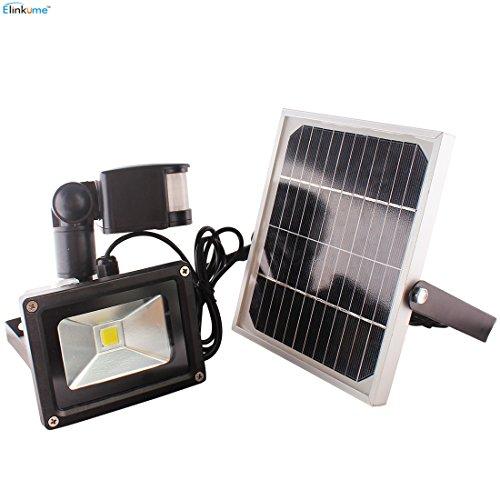 ELINKUME 10W Solar Powerd Motion Sensor Lights, Super bri...