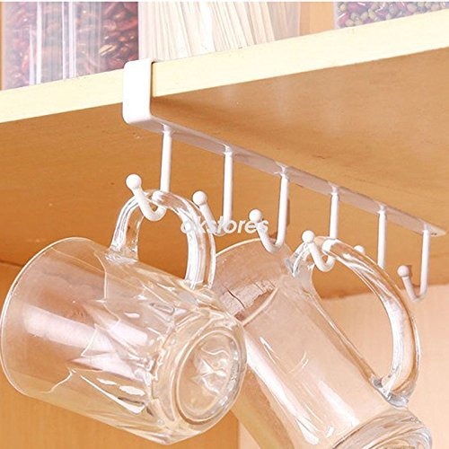Kitchen Pictures To Hang: AMAZZANG-6 Hooks Cup Holder Hang Kitchen Cabinet Under