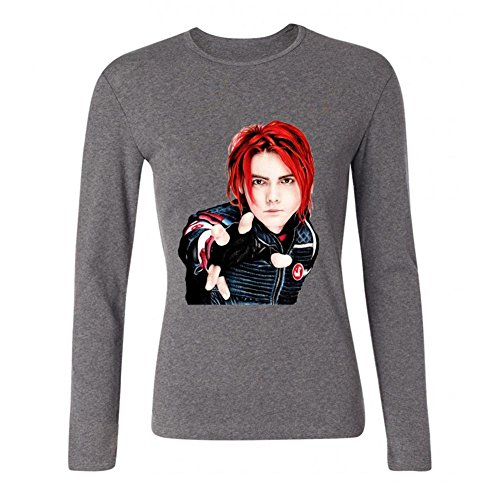 - JXK Women's MCR My Chemical Romance Gerard Way Long Sleeve T-shirt Size S ColorName