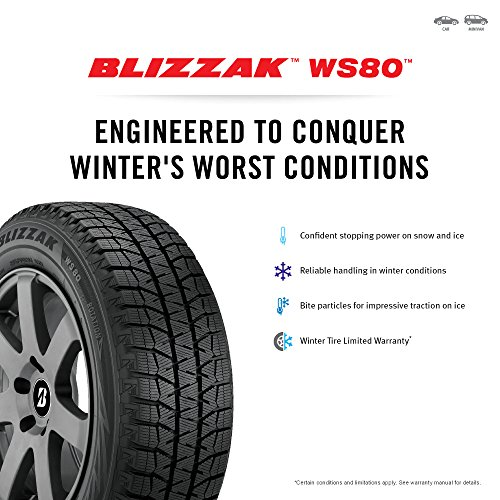 Bridgestone Blizzak WS80 Winter Radial Tire - 195/65R15 91H