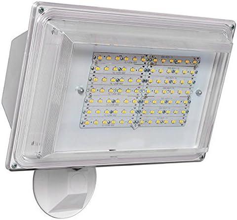 LED Flood Light 42 Watt Dusk to Dawn Photocell Sensor, 120V, 3500 Lumens, Security Light – White Finsh