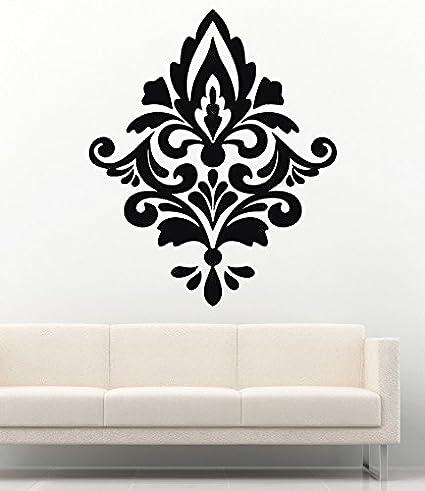 Damask Wall Decals Baroque Wallpaper Interior Vinyl Decor Stickers MK0771