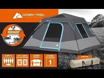 Ozark Trail 6-Person Family Dark Rest Cabin Tent 10' x 9