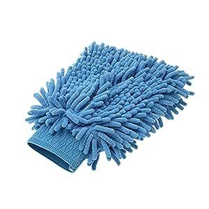 Paño de microfibra azul limpieza del coche guante manopla de limpieza
