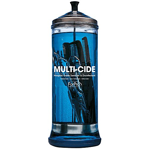 - ForPro Multi-Cide Tall Disinfecting Jar, for All Hairstyling Tools Including Brushes, Combs & Shears, 37 oz, 11.5