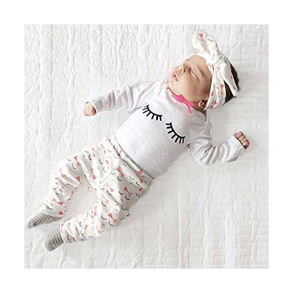 Bambina Completini e Coordinati Bambino Manica Lunga Top + Pantaloni + Headband o Hat Prima Infanzia 3 Pezzi… 6