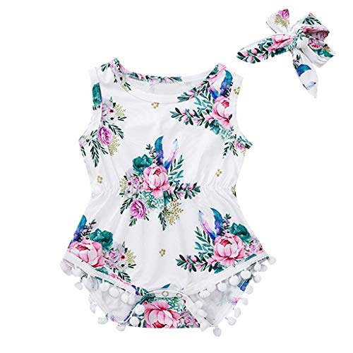 LiLiMeng Toddler Baby Girls Fly Sleeve Off Shoulder Floral Jumpsuit Casual Clothes