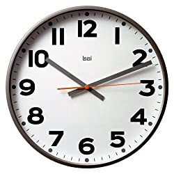 Bai Design 15 Jumbo Wall Clock for Homes, Offices and Businesses, Madison Gunmetal