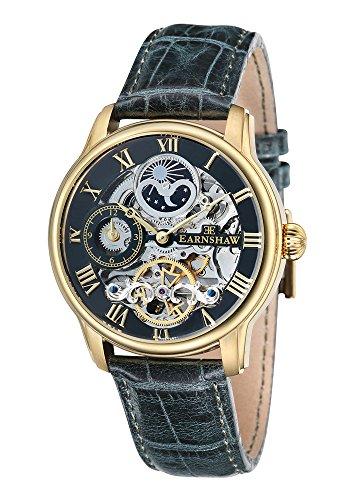 Thomas Earnshaw ES-8006-09 Mens Longitude Green Leather Automatic Watch