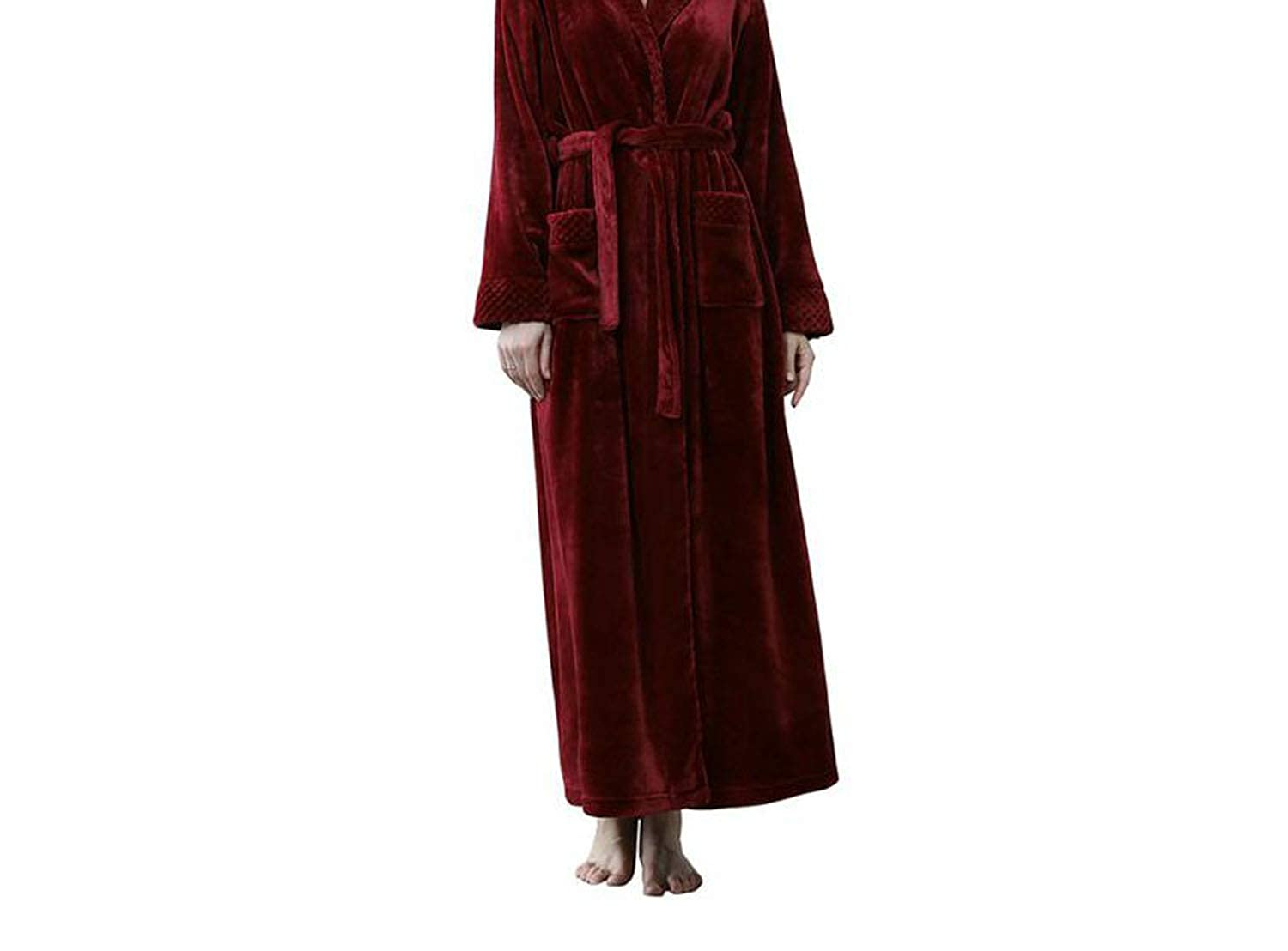 JR Together to create a miracle Woman Cloak AnkleLength Flannel Bathrobe Peigblack Dressing Gowns for Women Winter 2018