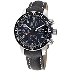 "Fortis Men's 638.10.11L.01 B-42 ""Official Cosmonauts"" Stainless Steel and Black Leather Automatic Watch"