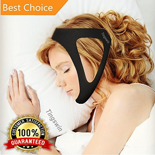 Anti Snoring Chin Strap/The Best Stop snoring solution/Stop Snore remedies Aids/Snoring Relief Devices/Anti Snore Jaw supporter chin straps Adjustable size for Snorerx Men and Women