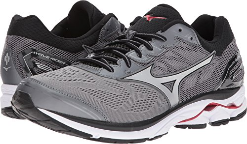91be3c65b90ba Mizuno Men's Wave Rider 21 Running Shoe, Quiet Shade/Silver, 10.5 D US