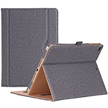 Procase iPad 9.7 Case 2018/2017 iPad Case - Stand Folio Cover Case for Apple iPad 9.7 inch, Also Fit iPad Air 2 / iPad Air -Grey
