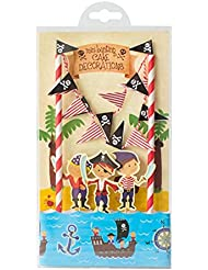 Cartoon Birthday Cake Garland Bunting Flag Topper Wraper Sets Decorating Kits Baby Boy Shower Pirate Party Favors Decorations Supplies for Kids Birthday