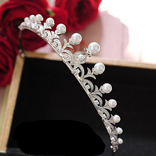 Quantity 1x new_minimalist_ Bridal pearl _zircon_ Wedding Crown Tiara Party Wedding Headband Women Bridal Princess Birthday Girl Gift Headdress Ornaments Korean Fashion _story_ Wedding _photography_ W