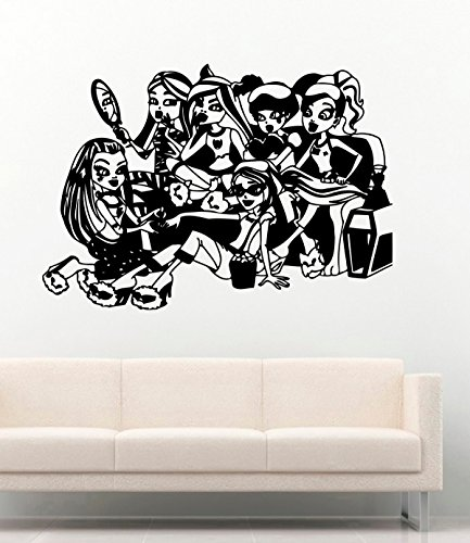 Monster High Vinyl Wall Decals Cartoon Decor for Children's Rooms All Monsters Vinyl Sticker Murals -