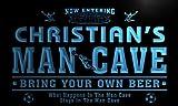 qd235-b Christian's Man Cave Soccer Football Bar Neon Sign