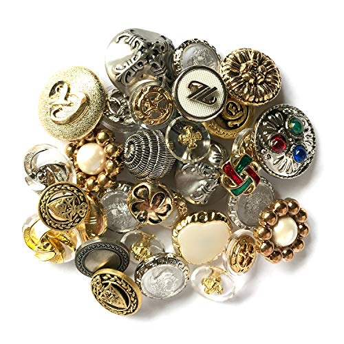 Buttons Galore HAB109 Haberdashery Button, Gold/Silver, Pack of 100 ()