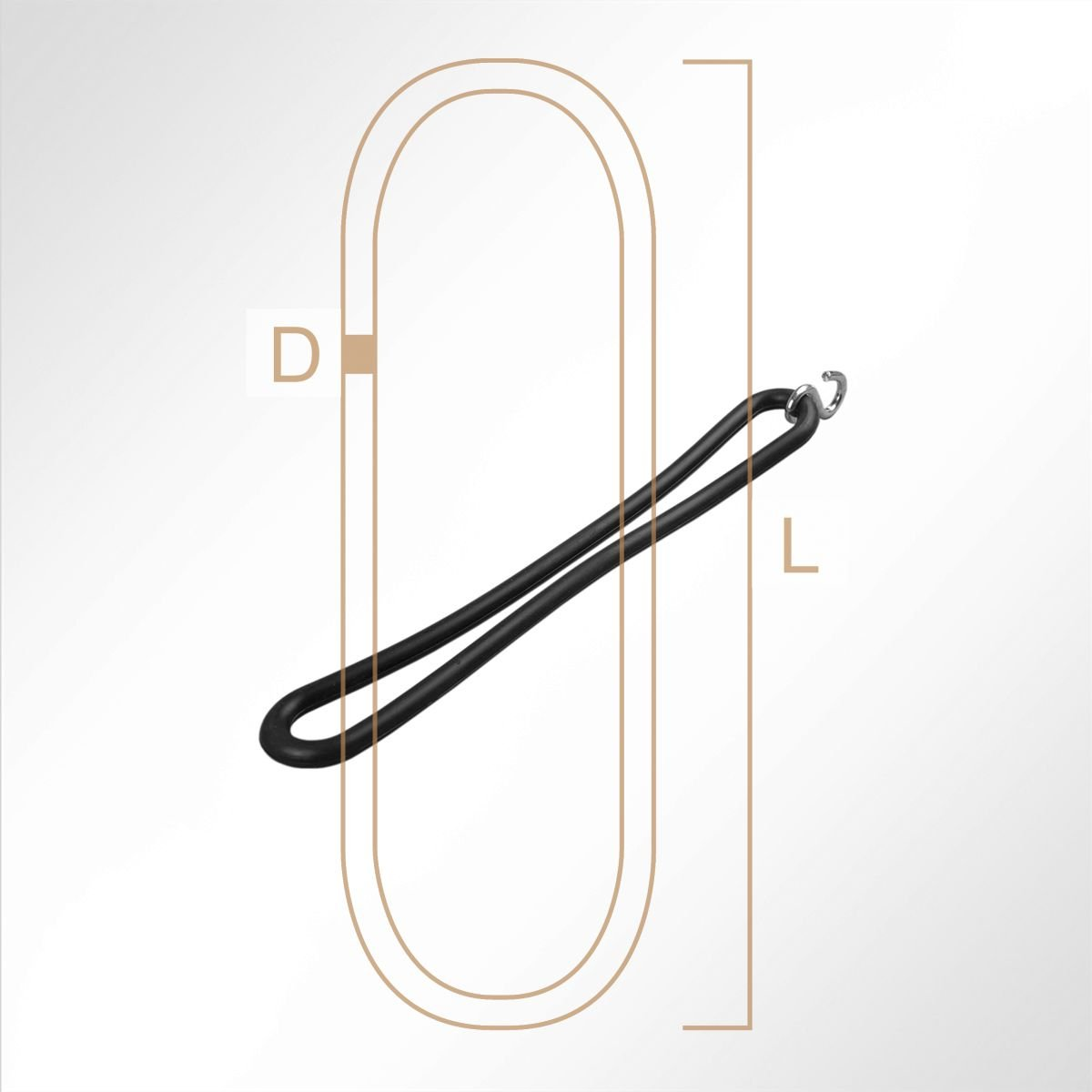 LYSEL/® Gummispannringe EPDM 200mm Gummi Spannring Anh/änger Plane Spanngummi schwarz 1 St/ück