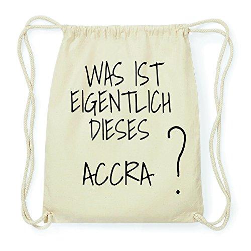 JOllify ACCRA Hipster Turnbeutel Tasche Rucksack aus Baumwolle - Farbe: natur Design: Was ist eigentlich