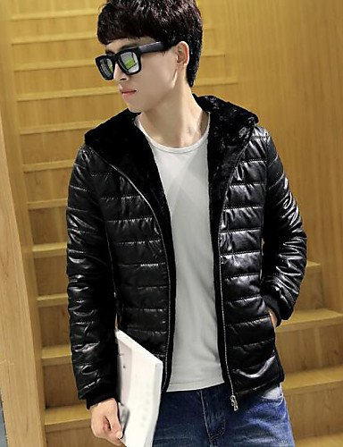 Print Padded Simple Sleeves Coat DGVFGBD Casual Men's Cotton White Daily Others Long 5YqOgn7g