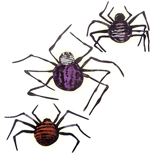 (Martha Stewart Chipboard Spiders with LED)