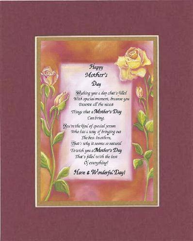 Amazon poem for a friend for mother day happy mothers day amazon poem for a friend for mother day happy mothers day poem on 11 x 14 inches double beveled matting black on black prints posters prints m4hsunfo