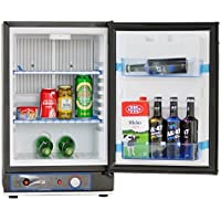 SMETA Portable Small Refrigerator 12V Truck Cooler 110V LP Gas No Noise Dorm Fridge,1.2 cu ft