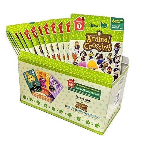 Animal Crossing Amiibo Cards Series 1 - Full box (18 Packs) (6 Cards Per Pack/108 Cards)