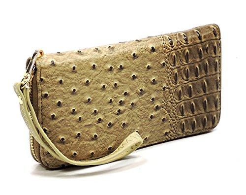 Set 2 amp; Bag Classic Wallet Ostrich Croc Shoulder 1 in Bag Beige Hobo Elphis Bucket Handbag R1p6wq8