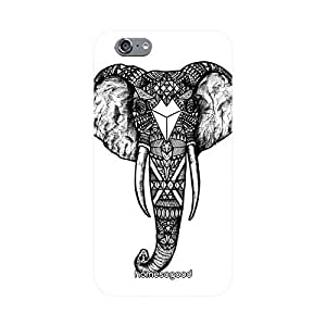 HomeSoGood Elephant With Tattoo White 3D Mobile Case For iPhone 6 (Back Cover)