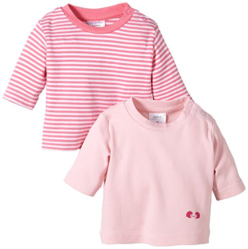 Twins Baby - Mädchen Langarmshirt im 2er Pack, Mehrfarbig, Gr. 56, Rosa (13-2804 - rosé)