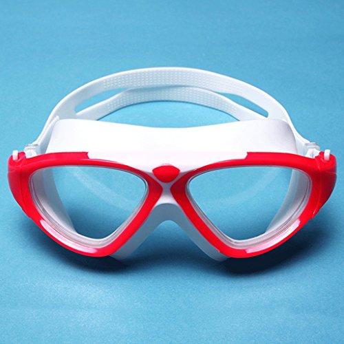 natación Color antivaho Hombres HD Hombres del los de Anteojos los de de de señoras de Red natación Transparentes Gafas Las ZHJING la anteojos Impermeables Blanco de Marco Grandes 45qxzawO