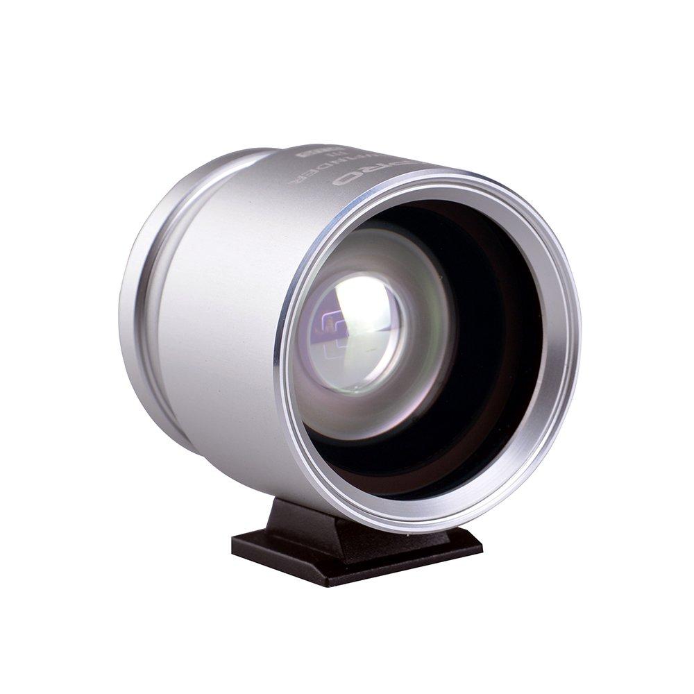 XPRO Optical Viewfinder 28/35/45 Silver Camera Eyepiece for Canon Nikon Pentax Sony Olympus Fujifim Samsung Sigma Minoltaz DSLR Camera by XPRO