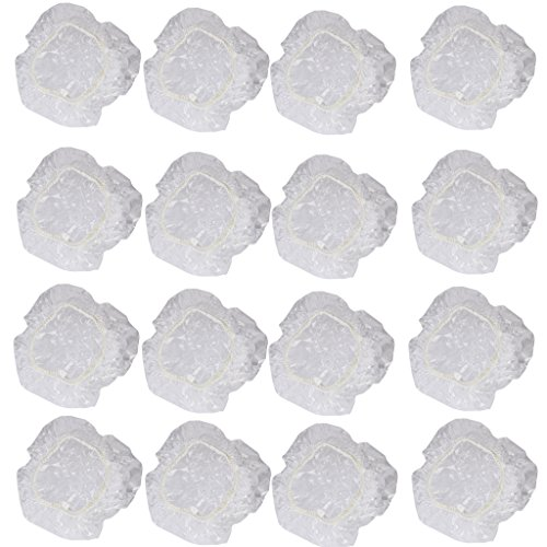 100Pcs Disposable Clear Shower Water Ear Protector Cover