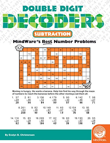 MindWare - Double Digit Decoders: Subtraction - 30 Unique Puzzles With Up To 20 Problems - Teaches Subtraction]()