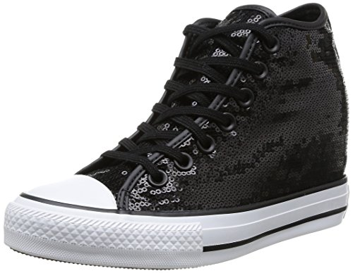 All Sequins Black Zapatos Mujer Converse Star Mid Lux Sequins dfAA4q0