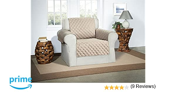 Safari Homeware Cubre Beige/Crema para Sillones - Protector de Muebles Acolchado de Lujo