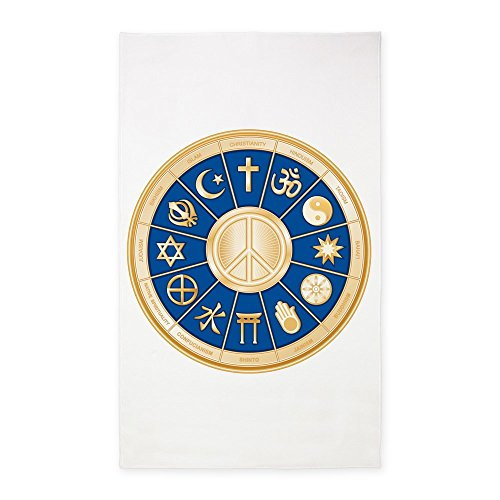 3' x 5' Area Rug International Peace Symbol Religions by Royal Lion