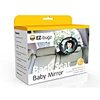 EZ-Bugz Baby Car Mirror for Rear Facing Child Seats, Big and Clear Rear View ...