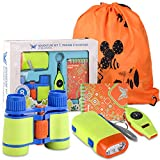 Adventure Kit for Kids -Kids Camping Toys with Binoculars, Flashlight, Compass, Whistle, Notebook, Outdoor Exploration Set for Boys Girls Age 3-12 year old, Best Gifts For Birthday, Camping, Christmas