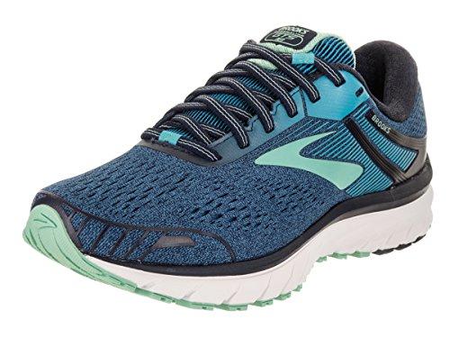 Brooks Womens Adrenaline GTS 18 Running Shoe Navy/Teal/Mint, 6.5