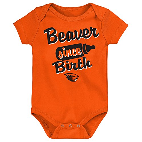 NCAA Oregon State Beavers Newborn & Infant Since Birth Short Sleeve Alternate Color Bodysuit, Multi, 12 (Ncaa Baby Clothing)