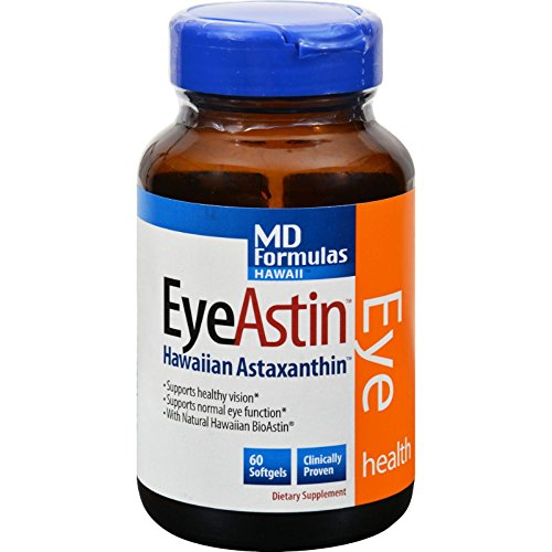Nutrex Hawaii MD Formulas EyeAstin -- 60 Vegetarian Softgels