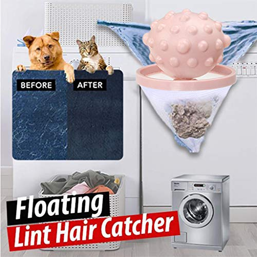 Washing Machine Hair Ball Remover Home Pet Floating Lint Hair Catcher Washer Hair Filter Cleaning Supplies (White)